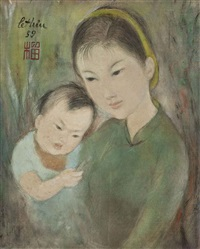femme et enfant (woman and child) by le thi luu