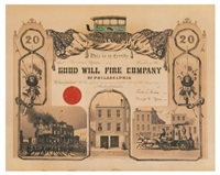 this is to certify that thomas speer is a member of the good will fire company of philadelphia by james queen