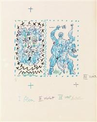 couverture pour un catalogue (picasso, dessins d'un demi-siècle) by pablo picasso