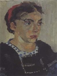 porträt frau schottenhamel by max feldbauer