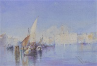 bustling activity on the lagoon, venice by william knox