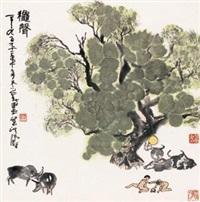 秋声图 by liang hongtao