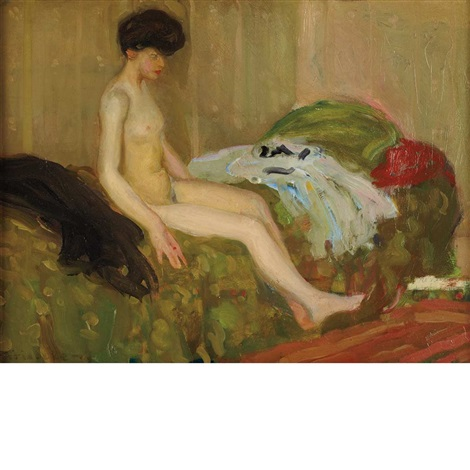 seated nude by frederick carl frieseke