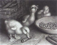 a ducklings' feast by frank paton