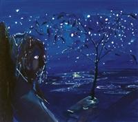 frank at night by dana schutz