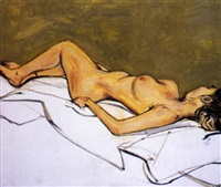 reclining nude by lewis miller