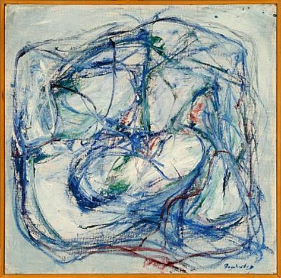 blue bulldog by gordon fazakerley