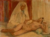 deux femmes dans un intérieur by marcel vicaire