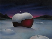 apple in snow by soren arutyunyan