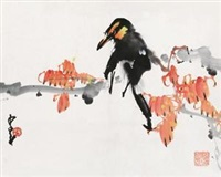 红叶小鸟 by zhao shaoang