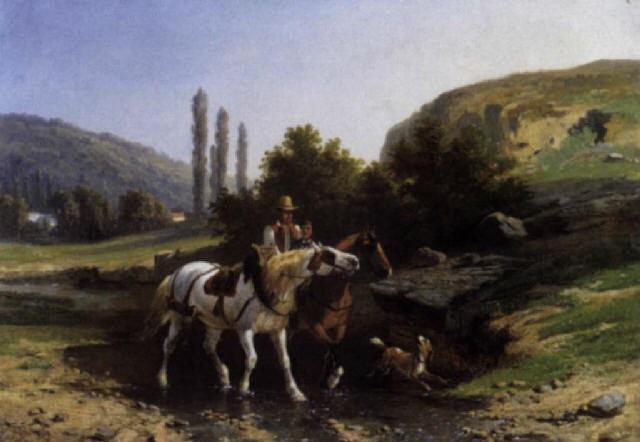 ruiters in een zuiders landschap by paul van der vin