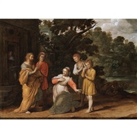 elisha and the widow with her two sons by jan pynas