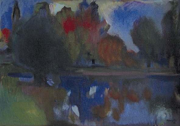 le lac en automne by jean marzelle