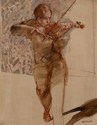 violinist by claude weisbuch