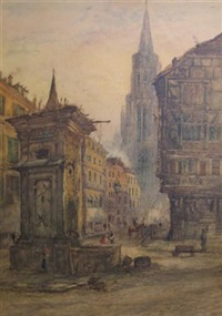 street in antwerp by eugene lemaire