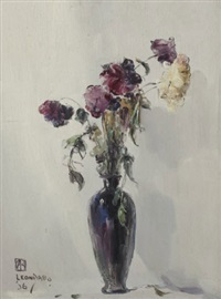 fleurs (+ another; 2 works) by leon dabo