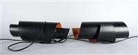 lampenpaar in form einer endlosschleife (pair) by simon p. henningsen