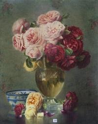 vase de roses by isidore rosenstock