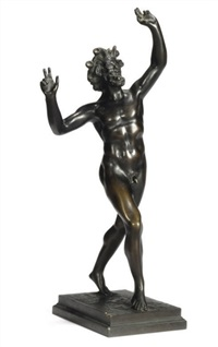 dancing faun (after the antique) by gladenbeck (co.)