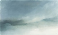 study for sky (white grey and green) no.1 by chris langlois