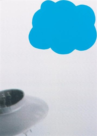 flying saucer and cloud blue by john baldessari