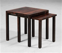 side tables (pair) by herbert selldorf