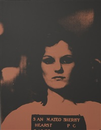 patty hearst, mugshot by russell young