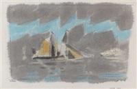 coasting vessels by lyonel feininger
