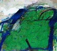 abstrakte komposition in grün (from gatterbilder) by peter tomschiczek