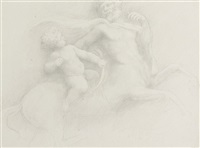 young hercules and chiron (+ 2 others; 3 works) by alphonse legros
