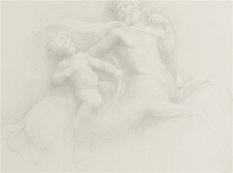 young hercules and chiron 2 others 3 works by alphonse legros
