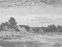 landschaft mit bauernhäusern by georg lemm