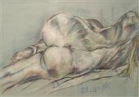 reclining nude by eliaz slonim