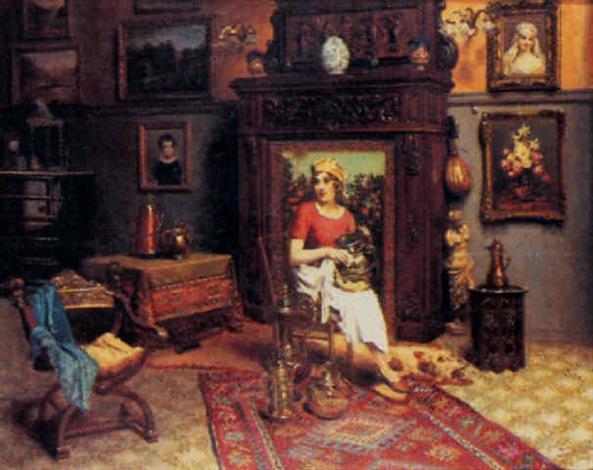 scène dintérieur by ettore brunini