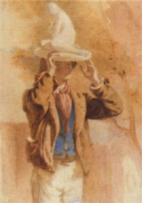 a man carrying a plastercast by frederick tatham