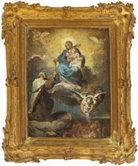 maria reicht einem heiligen den rosenkranz by franz joseph spiegler