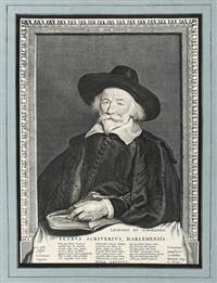 brustportrait peter scriverius (after p. c. soutmann) by cornelis visscher