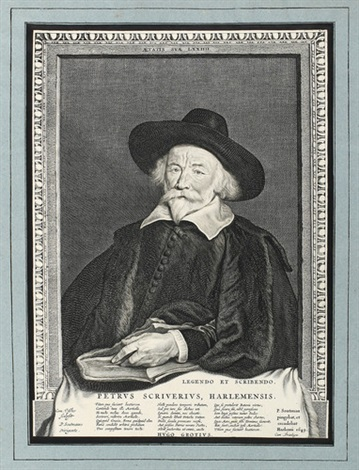 brustportrait peter scriverius after p c soutmann by cornelis visscher