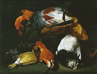 nature morte à la bécasse et au perdreau by philips angel