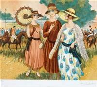 les élégantes au padock by francois batet