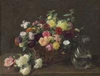 panier de fleurs by henri fantin-latour