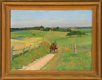 scenery with horse carriage by immanuel ibsen