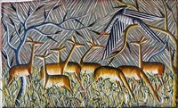 antilopes dans la savane by kibwanga mwenze