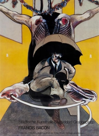 affiche dapres second version of painting by francis bacon