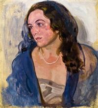 portrait einer jungen frau by richard teschner