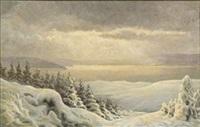 winter landscape by hans mortensen agersnap