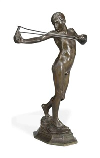 catapult or sling boy by sir william reid dick