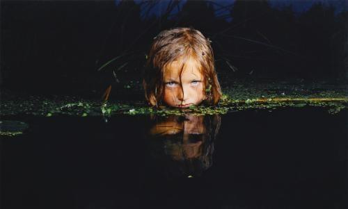 girl in a swamp (from fear series) by oleg kulik