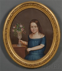 portrait of young ellen fairbank of winchendon, massachusetts by horace bundy
