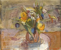 vase of flowers by zvi tadmor